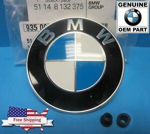 GENUINE BMW Hood/Trunk Roundel Emblem Badge OEM 5-series  E28 E34 E39 E60