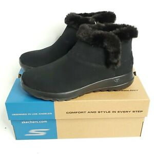 Skechers On The Go Joy Bundle Up Boots Women's Size 9 Black Gen 5 Ortholite