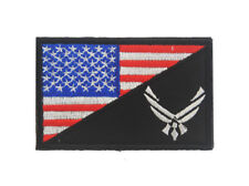 USA Flag / USA Air Force Logo Militray Tactical Morale Embroidered Hook Patch