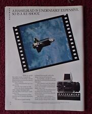 1984 Print Ad Hasselblad Photography Camera ~ NASA Space Shuttle