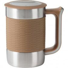 Trudeau Board Room 16-ounce Desk mug w/ Lid Silicone - Beige (NEW)