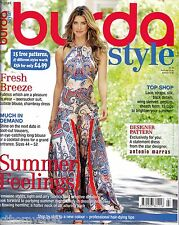 Burda Style magazine 7/2015 Pale Blue, 70's Dresses  15 Uncut Patterns 47 Styles