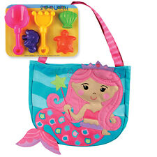 Stephen Joseph Mermaid Beach Tote with Sand Toys for Kids - Girls Tote Bag