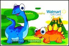 WALMART CARTOON DINO DIE CUT DINOSAUR NEW LIMITED COLLECTIBLE GIFT CARD