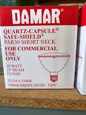 Damar NO2346B,50W 130V safe shield short neck, commercial use only. Lot of 12