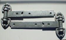 """Reversible Gate Stable Door Hinges 18"""" (450mm) Heavy Duty Galvanised 1 Pair"""