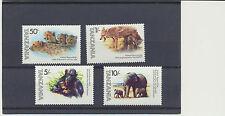 Elephants, Gorilla, Wild dog, Tigers Set of 4 Animal Stamps Tanzania #201-4 Mint