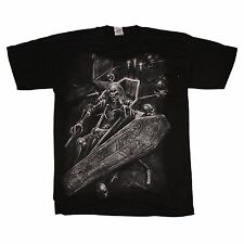 Vampire Coffin Pentagram T-Shirt by Spiral Direct - Black Adult Size M