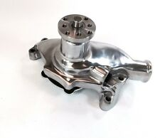 SB Chevy SBC 283 327 350 High Volume Aluminum Water Pump Short Style - Polished