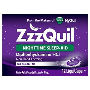 Vicks ZzzQuil Nighttime Sleep Aid 12 LiquiCaps EXP. 10/2021
