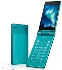 SHARP 501SH AQUOS KEITAI ANDROID FLIP PHONE BLUE GREEN UNLOCKED NEW 504SH