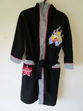 Boys  Simpsons  Black   hooded dressing gown Size 8        BNWT