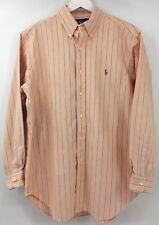 Ralph Lauren Classic Fit Button Up Striped Shirt Mens SZ 16 Long Sleeve Horse