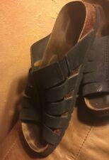 Birkenstock Betula Lady 10 M8 Black Leather Sandals Shoes Buckle Straps