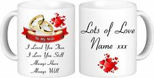 To My Wife Personalised Mug Great Valentine's Day Gift or Anniversary Gift