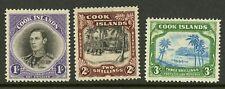 Cook Islands   1938   Scott # 112-114    Mint Lightly Hinged Set