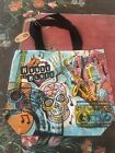 House Of blues collectible New Orleans Sugar Skull Cotton Tote Bag NWT