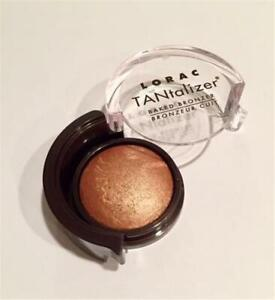 Lorac Tantalizer Bronzer Baked Face Body Bronzing Powder Deluxe Size Golden Tan