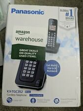 Panasonic KX-TGC352B 1.9GHz 2 Handset Cordless Phone