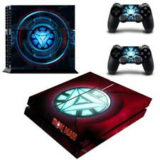 Regular PS4 Consoles Skin Reactor of Iron Man Marvel Vinyl Decal Stickers Covers