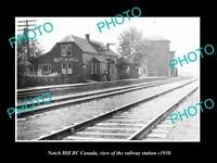 OLD LARGE HISTORIC PHOTO OF NOTCH HILL BC CANADA, THE RAILWAY STATION c1930