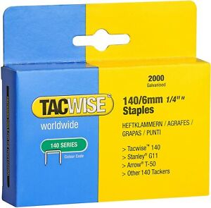 TACWISE 140 SERIES STAPLES Stanley G11 Arrow T50 8mm, 10mm, 12mm, 14mm 2000/5000