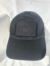 Black Tactical Operator Cap with Black ANF Subdued Patch
