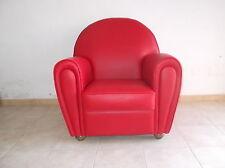 Poltrone rosso in pelle acquisti online su ebay
