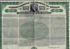 National Railways of Mexico Ferrocarriles Nacionales 1907 Gold Bond USD 100