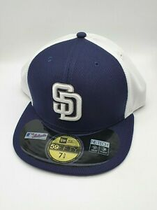 New Era MLB 59Fifty 5950 Diamond Era Fitted Cap Hat - San Diego Padres - 7 3/8