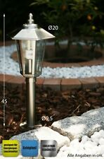 Lampioncino Acciaio inox Lampione da giardino Segnapasso Design Moderno NEW 1761