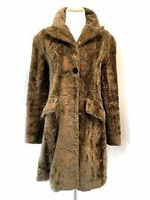 Karen Millen England Vintage Brown Faux Fur Coat Almost Famous Groupie 12UK/8 US