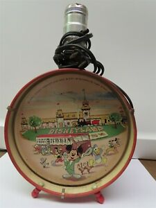 Vintage Disneyland 1956 Drum lamp by Econolite- NO SHADE GREAT CONDITION