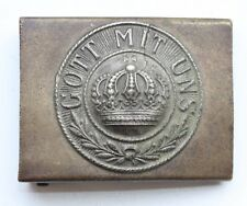 WW1 WWI Original Germany ''Got Mit Uns'' Brass Belt Buckle (NOW02)