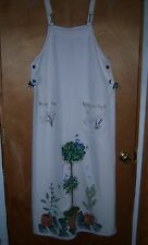 Casual Corner Annex  Hand Painted Jumper Dress Parsley Sage Rosemary Thyme NEW