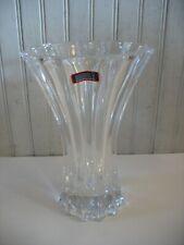 "Riedel Vivant Fluted Ribbed Vase 9 1/2"" Lead Free Tyrol Crystal Signed"