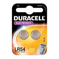 4 piles bouton LR54 Duracell Pile AG10 alcaline J89/KA54/LR1130 Validité 2019