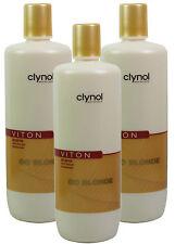 3x Clynol Viton Go Blonde Enlighten Shine Shampoo 1 Litre