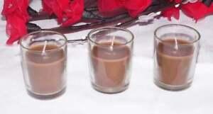 48 Chocolate Brown Wax Votive Candles Wedding Anniversary Birthday Party Event