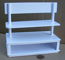 1:12 Scale White Painted Shop Display Counter Tumdee Dolls House Accessory PN