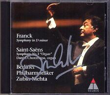 Zubin MEHTA Signiert SAINT-SAENS Symphony No.3 Organ FRANCK d-moll CD CHORZEMPA