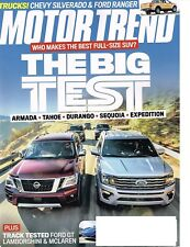 Motor Trend April 2018--Chevrolet Dodge Ford Nissan Toyota, new 2019 Ranger+1500