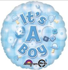 "18"" Amscan New Baby Boy It's A Boy Foil Helium Balloon"