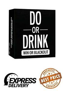 Do Or Drink Win Or Blackout Game Drinking Cards. Fun Drinking Game With Friends.