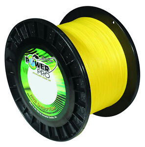 Power Pro Spectra Hi-Vis Yellow Braided Line Strong High Visibility Fishing Line