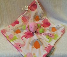 Blankets & Beyond Pink Elephant Lovey Security Blanket