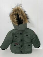 Olive Green & Black Toddler 18Months Phat Farm Weather Gear With Fur Hood.