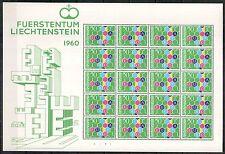 Liechtenstein 1960, Mi#398**, Sc#356**, Europa CEPT full sheet of 20, superb MNH