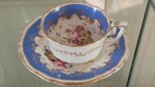 Exquisite Regency Coalport Rococo Hand Painted Cup & Saucer  C 1830