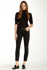 $398 NWT Current/Elliott Stiletto Skinny Jeans with mixed studs black, sz.25
